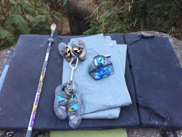 外岩ボルダリングの道具