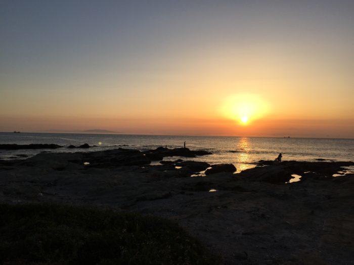夕日の見えるキャンプ場