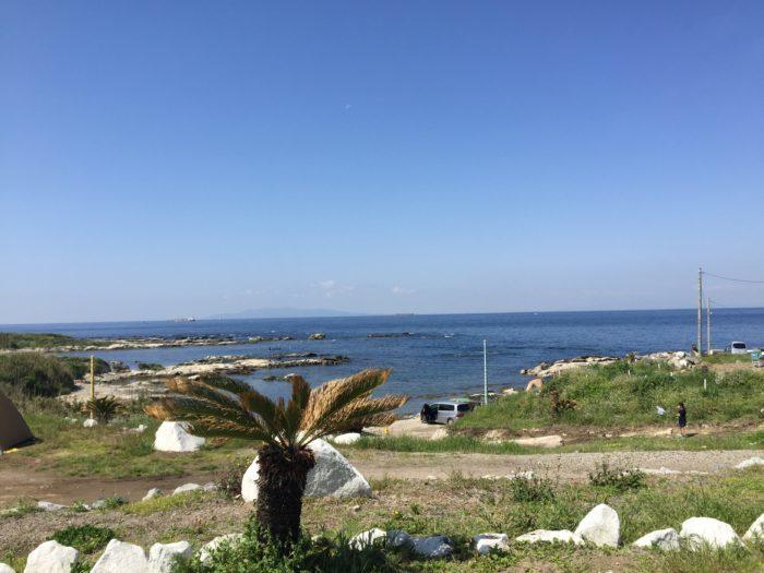海の見えるキャンプ場