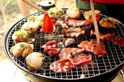 網焼きの焼き肉