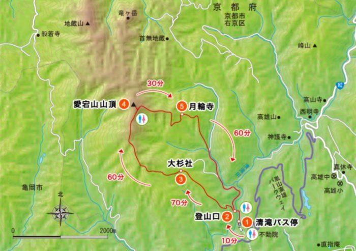 愛宕山 地図