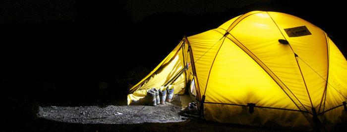 登山でのテント泊