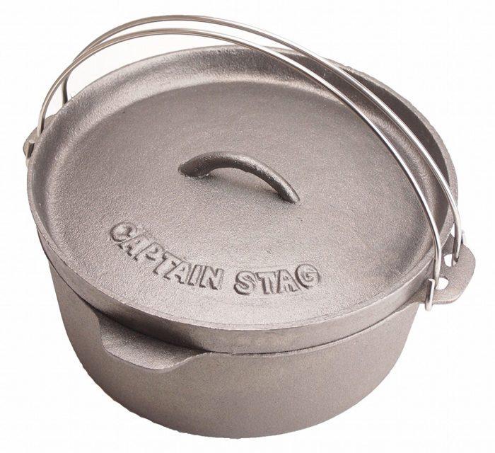 キャプテンスタッグ バーベキュー用 鍋 ダッチオーブン