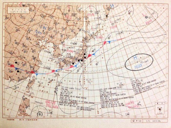 天気図用紙