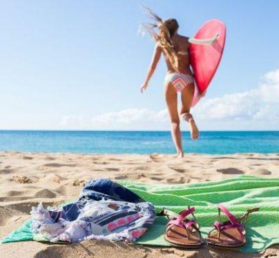 サーフィンをする除染
